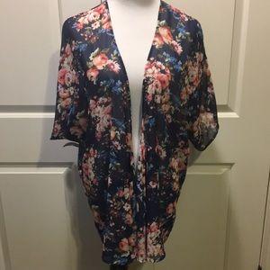 2X Cherry on Top Floral Kimono